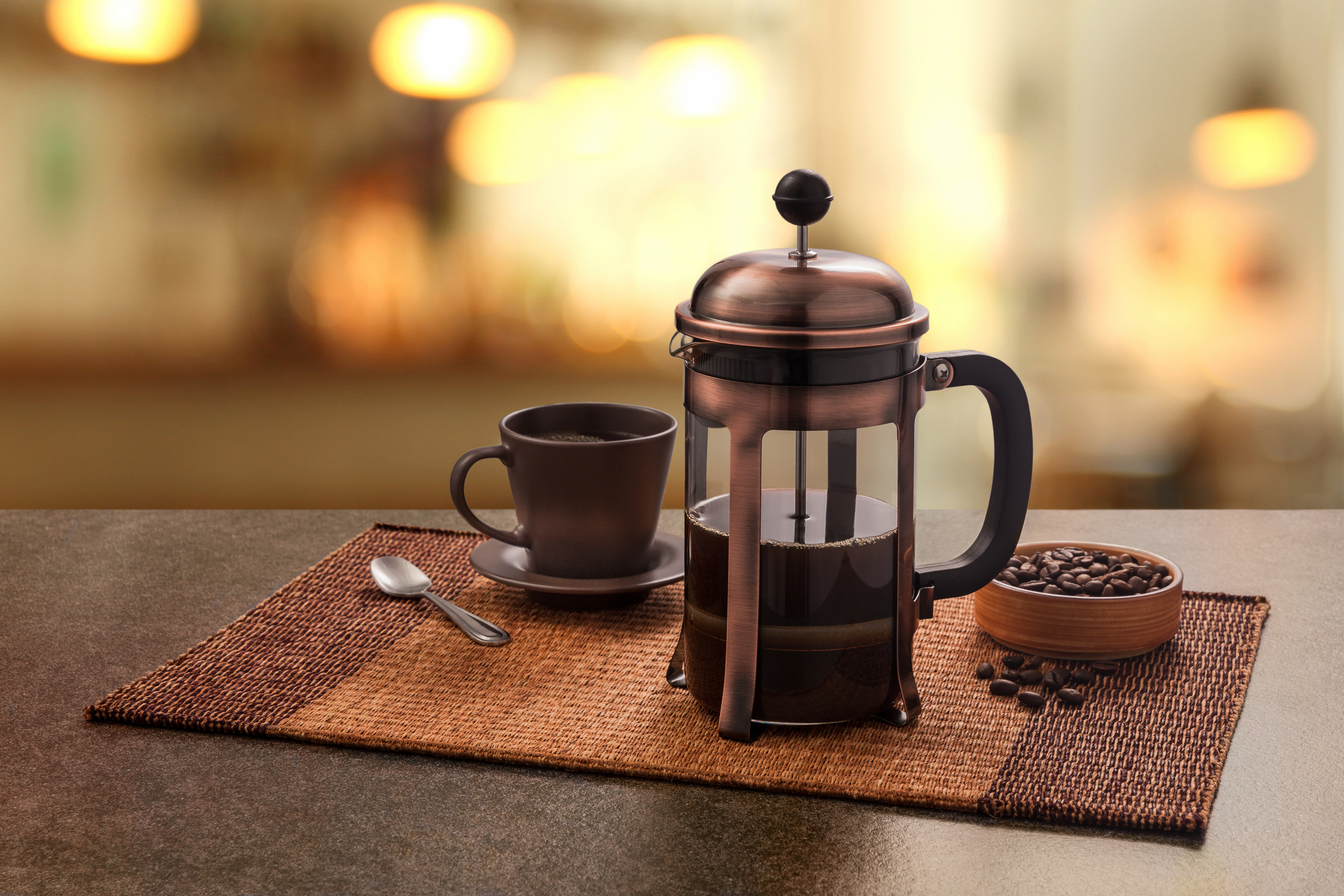 Coffee press is a classic way to bring out the flavor of your coffee.